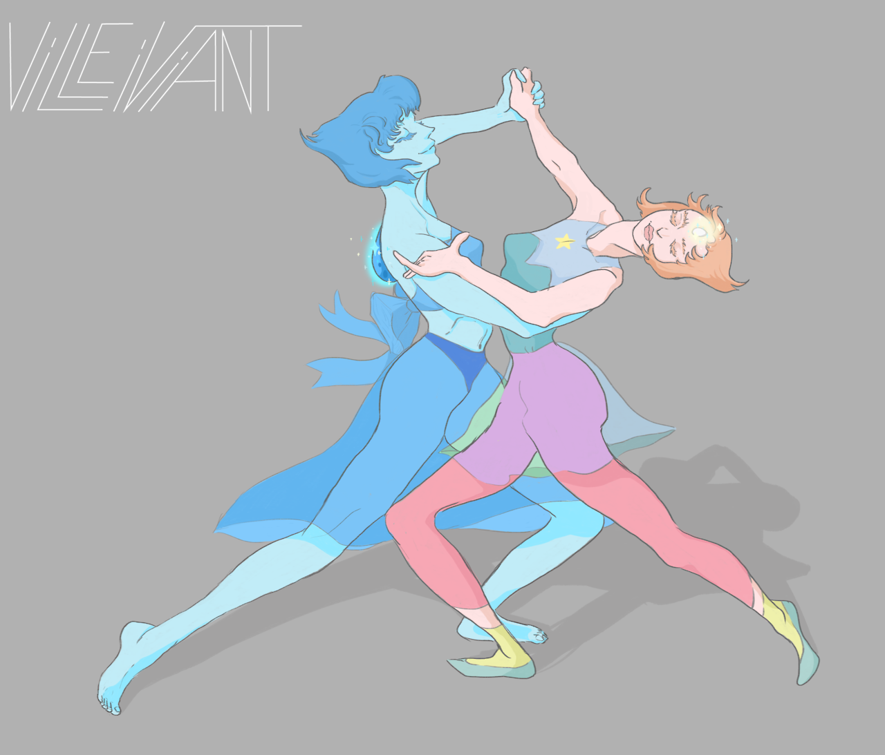 The beautiful dance of Lapis and Pearl