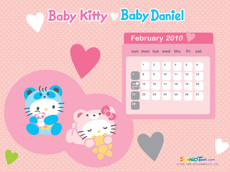 Baby Kitty and Baby Daniel - Pink