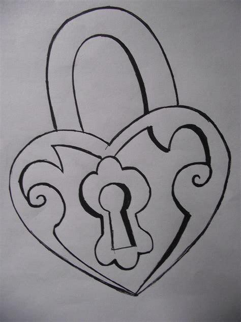 key  lock drawings simple tattoo idea easy drawing
