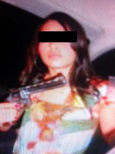 Suspeita de nove assaltos, 'miss do crime' é presa no DF (Foto: Rede Globo / Reprodução)