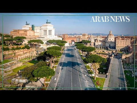 Drone images of Italy's empty Florence