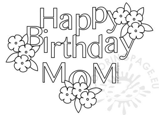 Birthday - Coloring Page