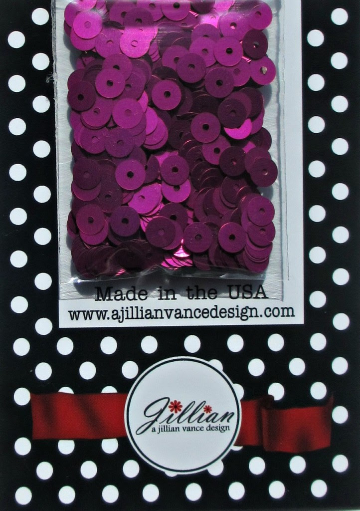 Fuchsia Satin 5mm Flat Sequins