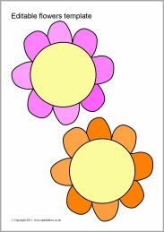 Flower template, Flower and Templates on Pinterest