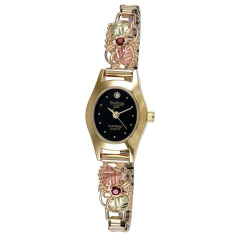 Black Hills Gold Ladies 10K Gold Birthstone Watch with