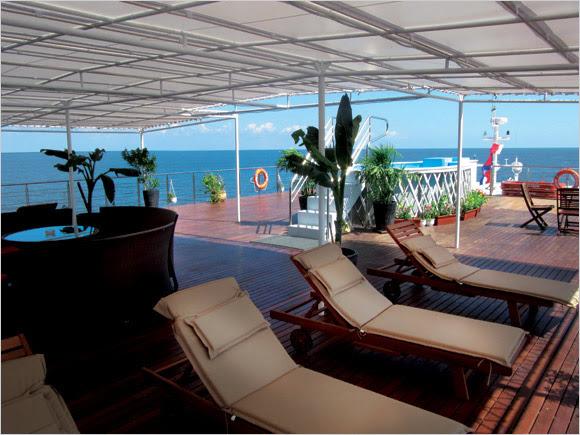 Mekong Prestige cruise, boatdeck
