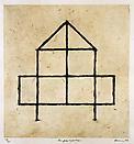 Zarina Hashmi <i>Homes I Made/ A Life in Nine Lines<i>, 1997 (detail) Bangkok 1958-1961 <i>First Home</i>