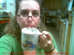 spitting my boss's cum in a mug