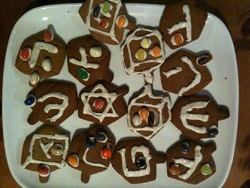 Dreidel Gingerbread
