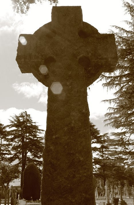 Cross against the sun - Stratford upon Avon cemetery