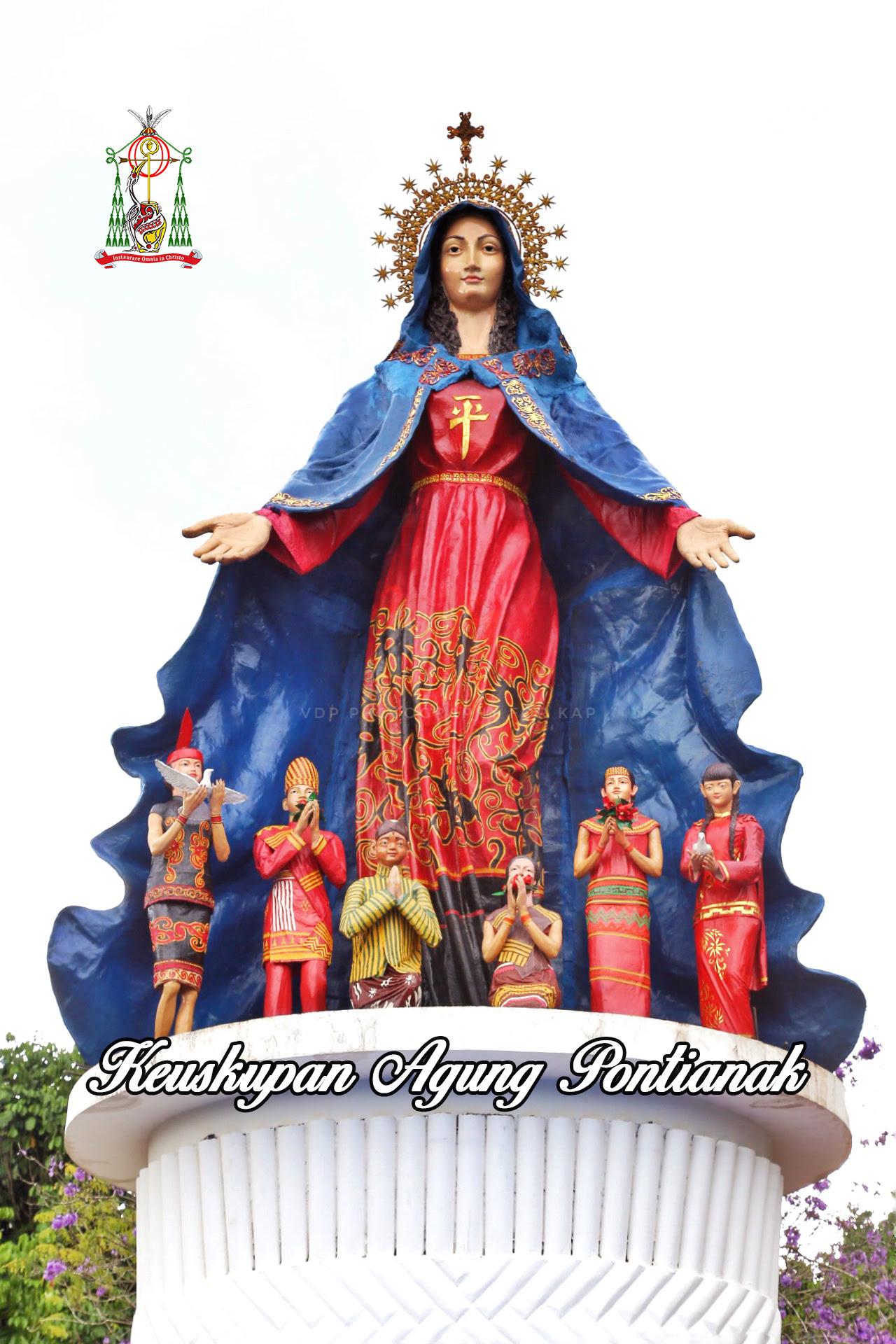 Gua Maria Anjongan Keuskupan Agung Pontianak Patung Maria Setinggi
