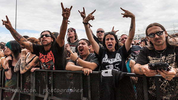 Front-row fans