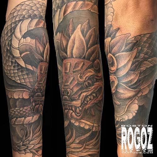 Quetzalcoatl Tattoo By Boston Rogoz Tattoonow