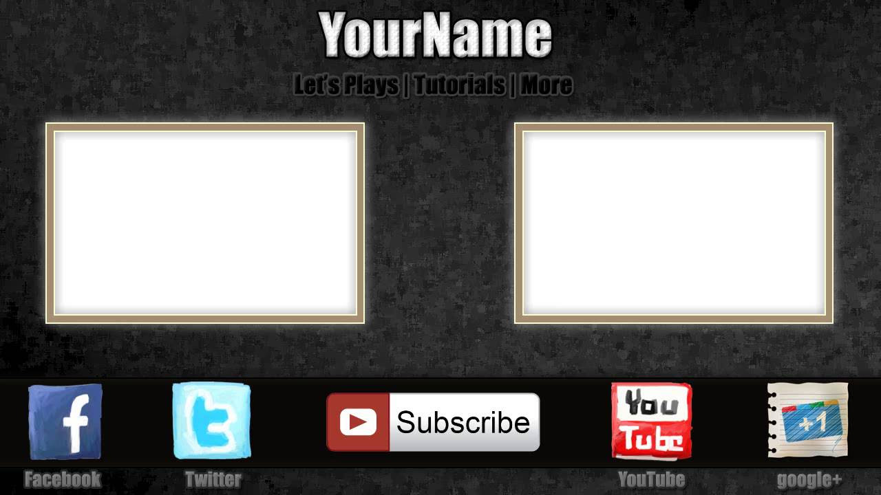 Free Outro Template #0004 - 2D   Paint.NET   PhotoShop   Camtasia ...