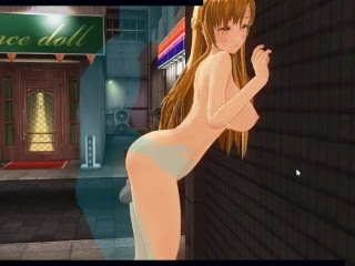 [CM3D2] - Sword Art Online Hentai, Fucking Asuna Outside At Night