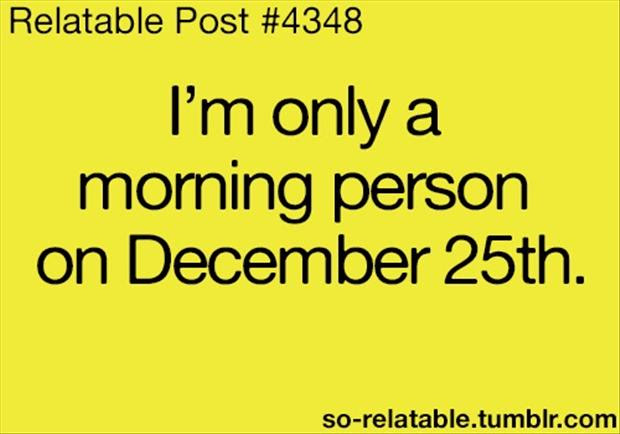 I Am Only A Morning Person On December 25 Funny Quotes Dump A Day