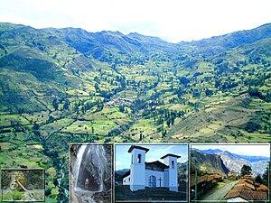Español: El distrito de Llama y sus lugares de...