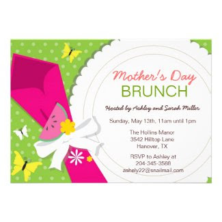 Mother's Day Brunch Party Invitations
