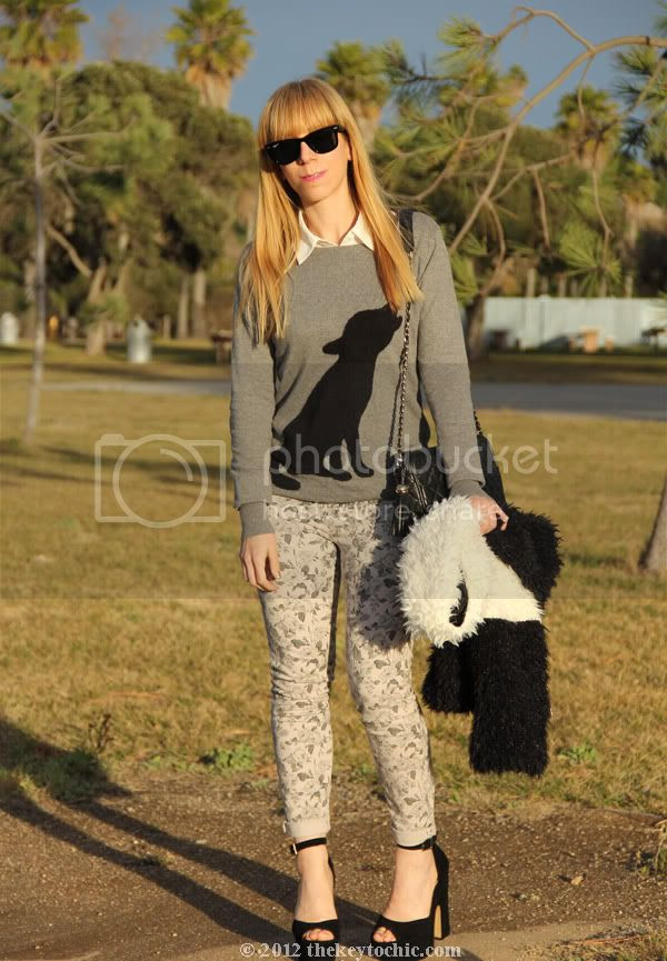 dog print sweater, J Brand floral jeans, Steve Madden Grettta, Los Angeles fashion blog, southern California fashion blogger
