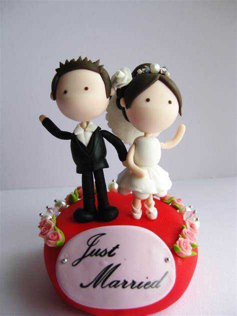 Wedding Clay Cake Topper Flower Decorative   (Not Edible