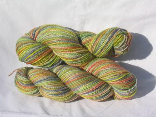 Summer Garden on Finn worsted yarn