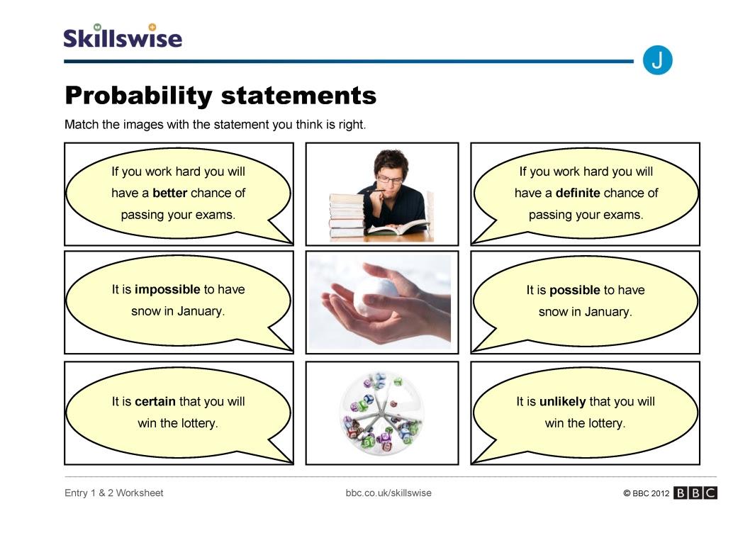 Probability statements