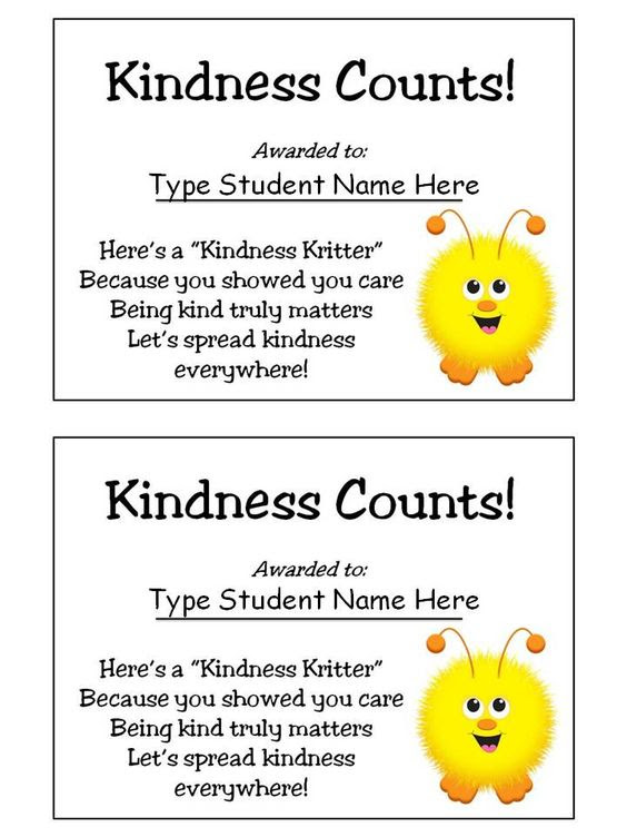 Kindness Counts Award - Good Character Traits | The o
