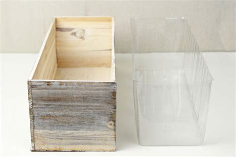 White Washed Wood 18x6 Planter Box