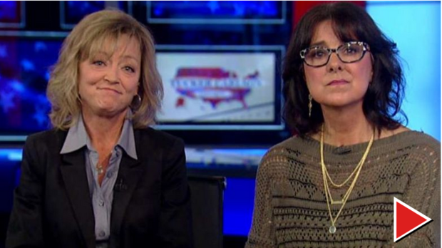 """Libby Hilsenrath and Nancy Gayer went on """"Tucker Carlson Tonight"""" in February, to complain about their kids getting a middle school social studies lesson on Islam. (Screenshot 
