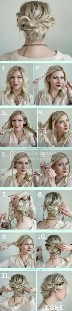 Easy Hairstyle for Medium Length Hairs