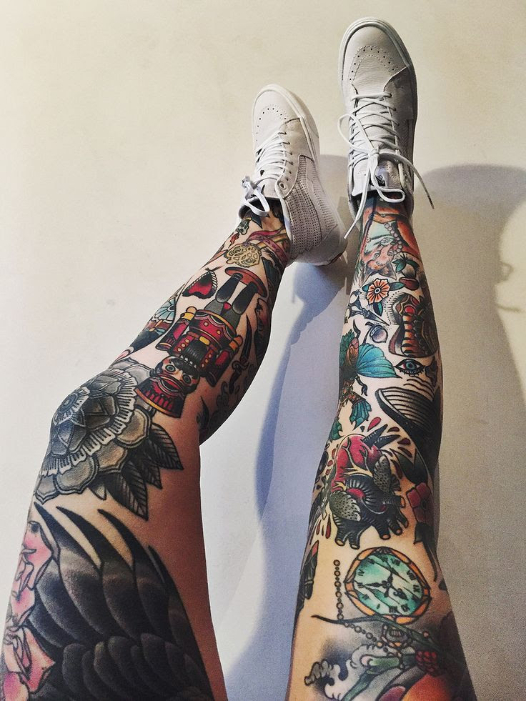 22 Awesome Leg Sleeve Tattoos Designbump