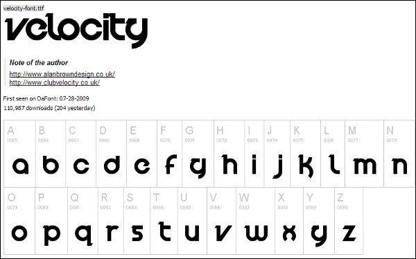 Velocity free font 10 tipografías elegantes y gratuitas