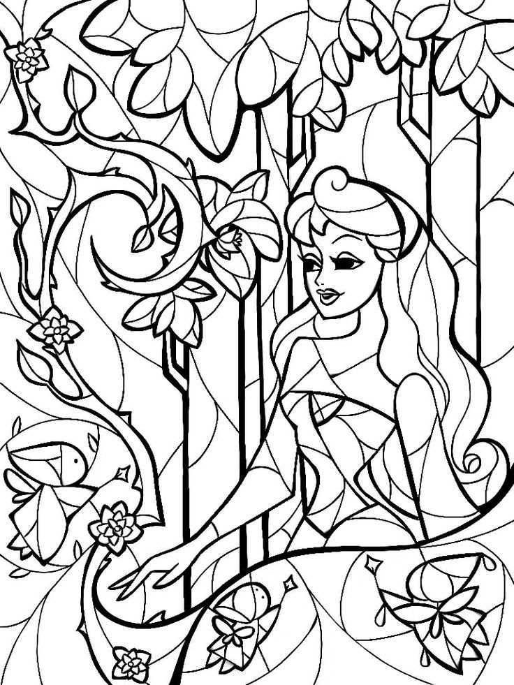 Stained Glass Coloring Pages For Adults at GetColorings ...