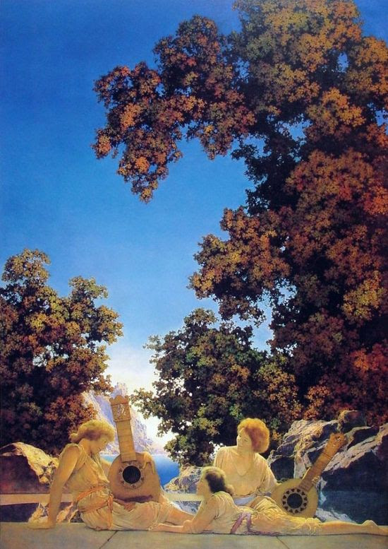 Interlude by Maxfield Parrish #art