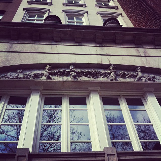 Stuyvesant Square: building on west side with cherubim