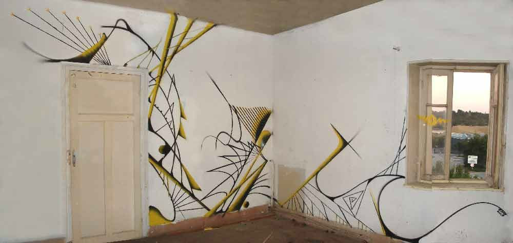 Bombes De Peinture Sur Mur Placo Et Acrylique 6 Timothée Péron