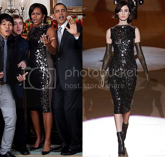 Michelle Obama in Marc Jacobs for the First Time