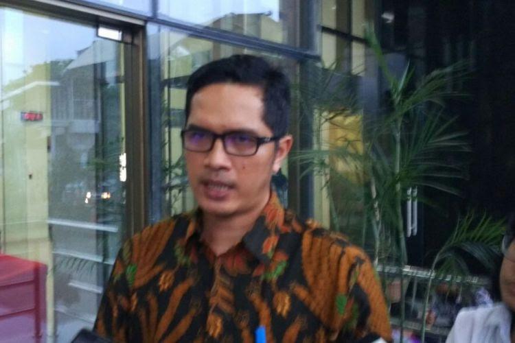 Juru Bicara Komisi Pemberantasan Korupsi (KPK) Febri Diansyah di Gedung KPK, Jakarta, Rabu (25/10/2017).