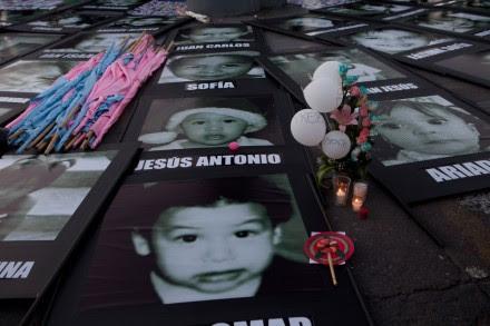 Retratos de los niños fallecidos en la guardería ABC. Foto: Miguel Dimayuga
