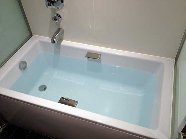 The bathwater appears blue all by itself! (iPhone 4S photo)