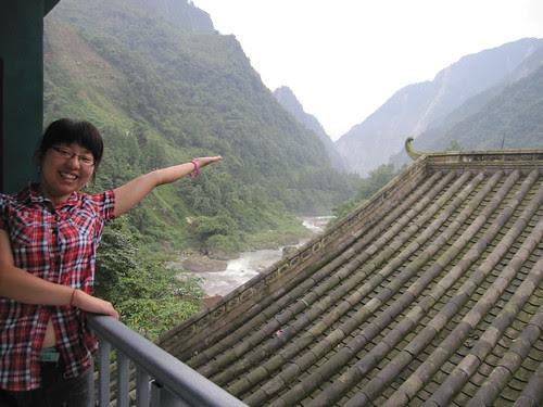 Linda enjoying the view