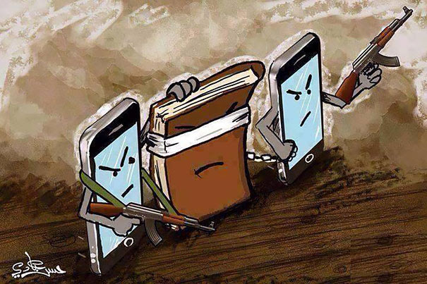 AD-Satirical-Illustrations-Show-Our-Addiction-To-Technology-47