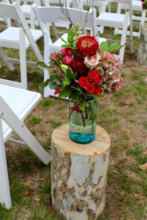 Mason Jar Aisle Marker for Rustic Wedding   Style. Because