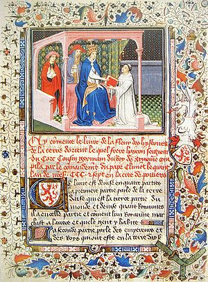 Hayton Remitting His Report To The Pope in 1307