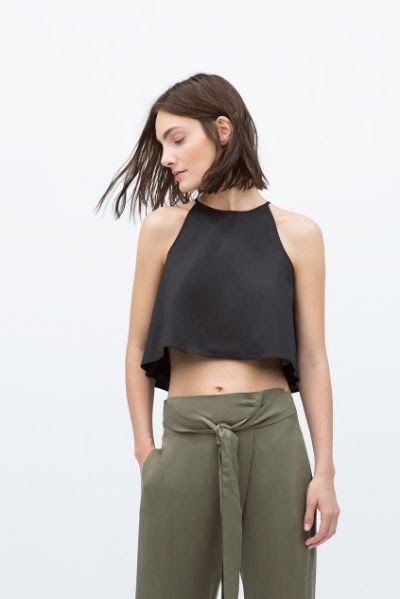 Zara Halter Neck Crop Top