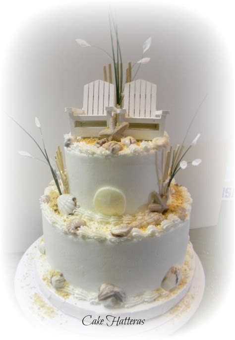 Fall Beach Wedding Cake   CakeCentral.com