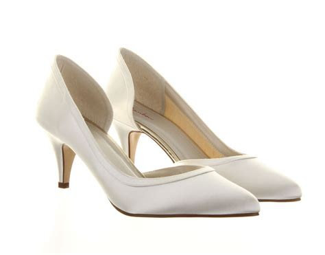 Ivory Wedding Shoes Abbie Rainbow Club   Dyeable Bridal Shoes