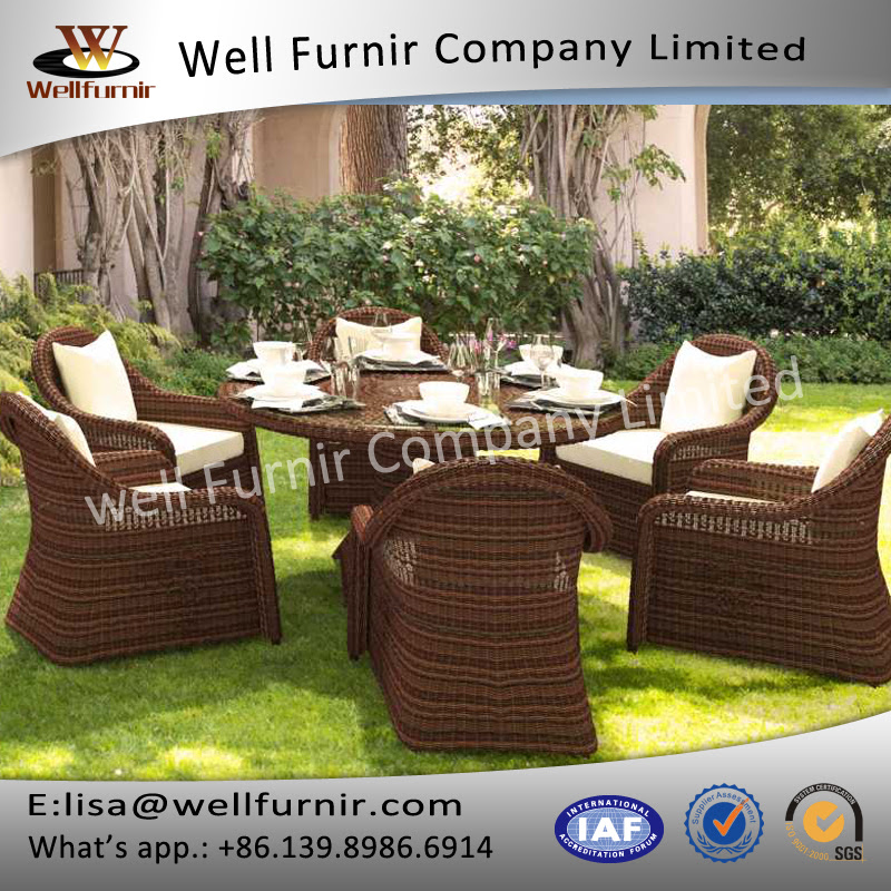 Well Furnir Luxurious Round Rattan Furniture Range Wicker ...