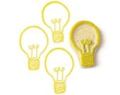 Bright Ideas Lightbulb Rubber Stamp - Hand Carved Stamp