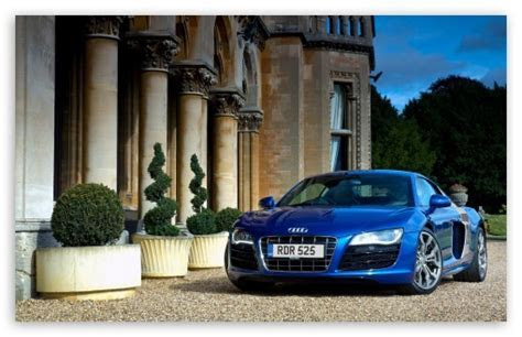 Audi R8 V10 Blue 4K HD Desktop Wallpaper for 4K Ultra HD TV ? Dual Monitor Desktops ? Tablet